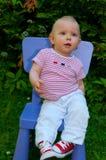 Baby on box presents Stock Image