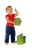 Baby with Boxes Royalty Free Stock Photo