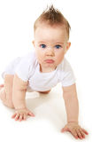 Baby boy. Portrait of cute baby boy with blue eyes Stock Photos