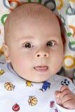 Baby boy. Close-up portrait of happy baby boy stock photos
