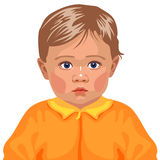 Baby boy. Vector illustration depicting baby boy calm and niceб, this is my lovely own picture, I 'm fond of vector illustrations. It can be useful for the vector illustration