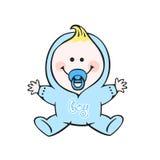 Baby boy. Happy human baby boy illustration Stock Image