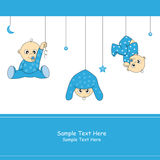 Baby boy. Arrival announcement card Royalty Free Stock Photography