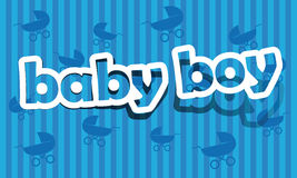 Baby boy. Realistic cut, takes the background color Stock Images
