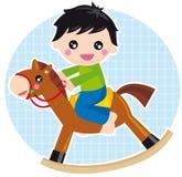 Baby boy. Illustration of baby boy on a tay horse vector illustration