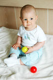 Baby boy. 10 months old baby boy Stock Image