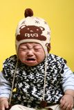 Baby boy. Chinese little baby boy crying Royalty Free Stock Photos