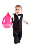 Baby boy in age one year holding balloon Royalty Free Stock Photography