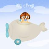 Baby boy on airplane Royalty Free Stock Photos