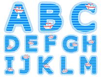 Baby Boy Alphabet Set From A To M Royalty Free Stock Images