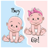 Baby Boy And Girl Stock Images