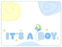 Baby boy announcement Royalty Free Stock Photography