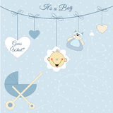 Baby boy announcement Royalty Free Stock Photo