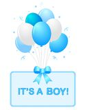 Baby boy announcement Royalty Free Stock Photos