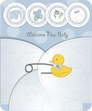 Baby Boy Announcement Card Stock Photography