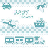 Baby boy announcement card Stock Images