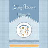Baby boy announcement card Royalty Free Stock Photography