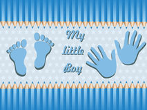 Baby boy announcement card. vector illustration Stock Image