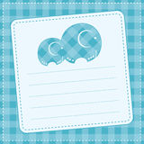 Baby boy  announcement card. Vector illustration Royalty Free Stock Image