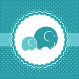 Baby boy announcement card. Vector illustration. Baby boy announcement card with elephants. Vector illustration Royalty Free Stock Photo