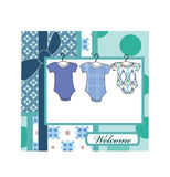 Baby boy arrival Royalty Free Stock Photography