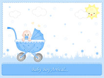 Baby boy arrival Royalty Free Stock Photo