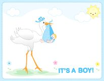 Baby boy arrival Stock Images