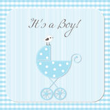 Baby boy arrival. Announcement card Royalty Free Stock Images