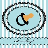 Baby boy arrival announcement . Royalty Free Stock Images