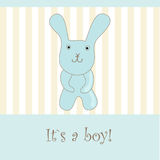 Baby boy arrival announcement card.  Royalty Free Stock Image