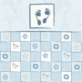 Baby boy arrival announcement card Royalty Free Stock Image