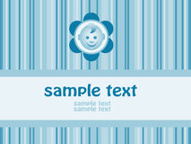Baby boy arrival announcement card. Vector-Illustration Stock Images
