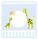 Baby boy arrival announcement card. This is file of EPS10 format Stock Image