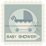Baby boy arrival announcement card. For your designs Royalty Free Stock Photo