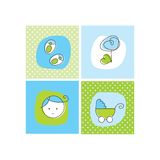 Baby boy arrival announcement cards Royalty Free Stock Photos