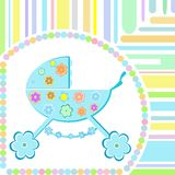 Baby boy arrival announcement greeting card  Stock Photography