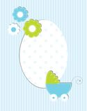 Baby boy arrival card Stock Photography