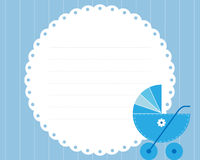 Baby boy arrival card Royalty Free Stock Image