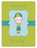 Baby Boy Arrival Card. Beautiful Baby Boy Arrival Card with Place for your text royalty free illustration