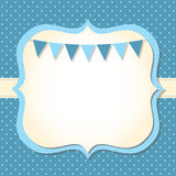 Baby boy arrival card. Baby boy arrival or shower card Royalty Free Stock Photos