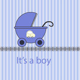 Baby boy arrival card Stock Photo