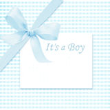 Baby boy arrival card. With copy space to add text stock illustration