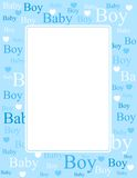 Baby boy arrival card / background Stock Photography