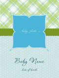 Baby Boy Arrival Card with Frame. Baby Boy Arrival Card with photo Frame Stock Images