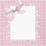 Baby boy arrival card. Baby girl arrival card with copy space to add text Stock Images