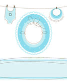 Baby boy arrival design. Baby boy arrival announcement design Stock Images