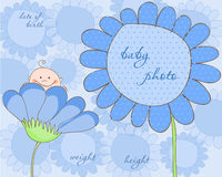 Baby Boy Arrival Frame for Photo Stock Photo