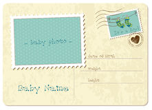 Baby Boy Arrival Postard Royalty Free Stock Images