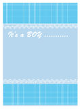 Baby boy arrives. Illustration of baby boy arrival card Royalty Free Stock Images
