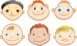 Cartoon Cute Boy Face Royalty Free Stock Photos